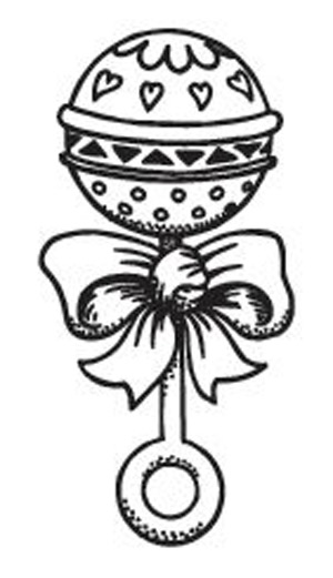 300x521 Baby Rattle Coloring Page