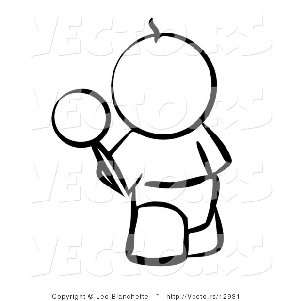 600x620 Vector Of Baby Outline With A Rattle