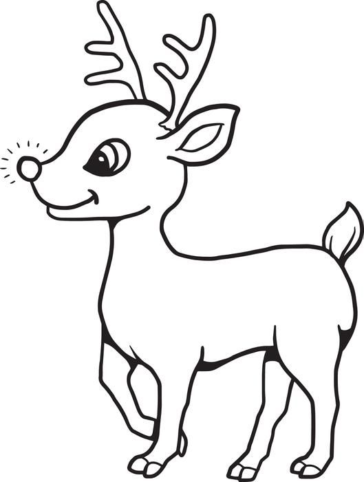 529x700 Free Printable Baby Reindeer Christmas Coloring Page For Kids