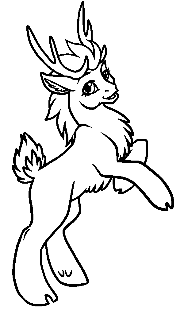 600x1026 How To Draw A Caribou Easy Cute Baby Reindeer Coloring Page