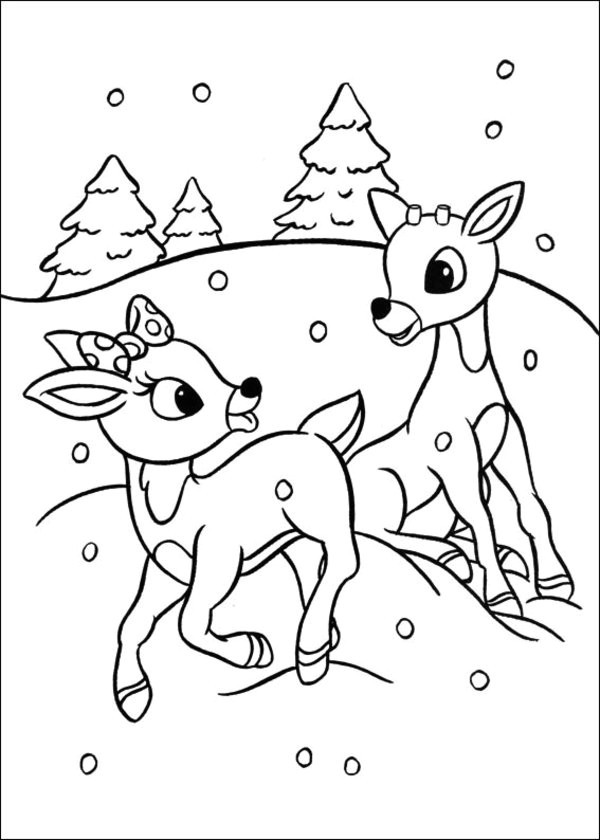 600x840 Lovely Baby Reindeer Coloring Pages Coloring Ws
