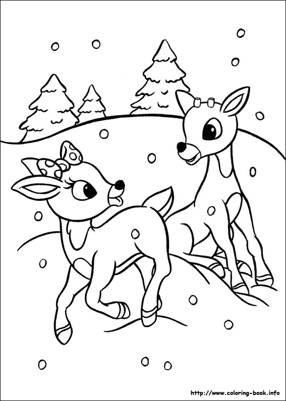 567x794 Ravishing Reindeer Pictures To Color Colouring In Funny Reindeer