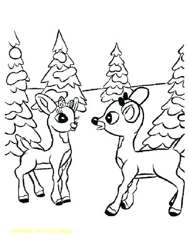 387x500 Reindeer Coloring Page Reindeer Coloring Pages Pages Rudolph