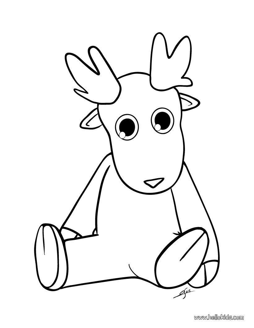 820x1060 Cartoon Baby Reindeer Coloring Pages Free Coloring Sheets