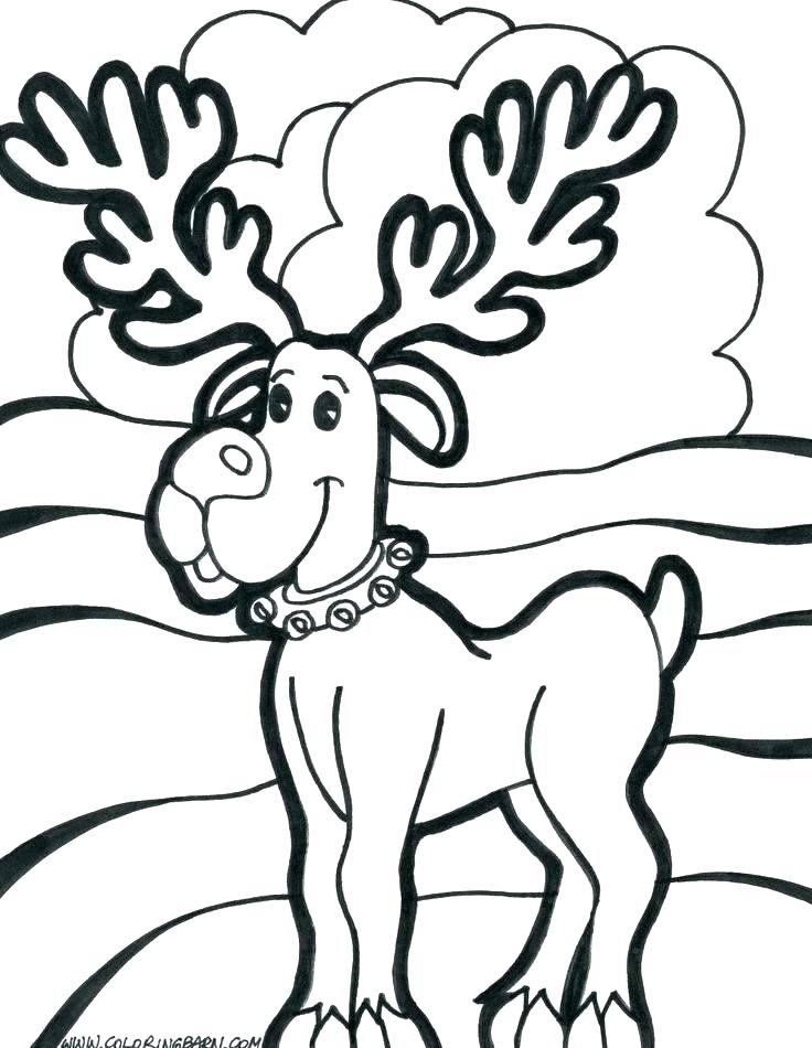 736x950 Christmas Coloring Pages Reindeer Coloring Pictures Holly Audio