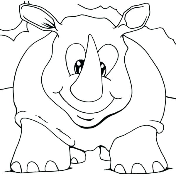 600x600 Rhino Coloring Page Rhino Coloring Page Baby Rhino Coloring Page