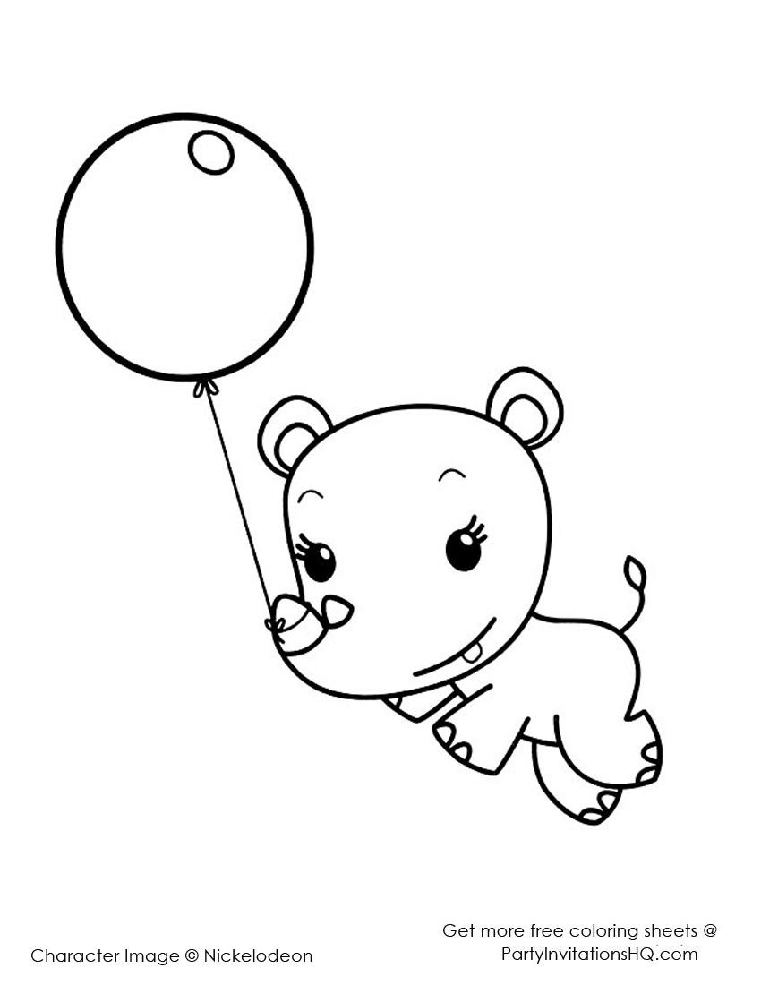 850x1100 Baby Rhino Coloring Page Color Bros