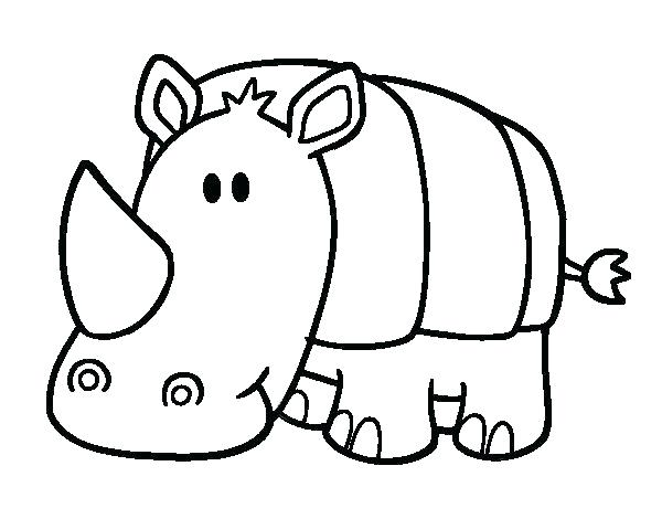 600x470 Rhino Coloring Pages Rhino Coloring Page Rhino Coloring Pages Baby