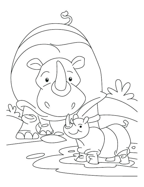 612x792 Rhino Coloring Pages Rhino Coloring Pages Rhinoceros Coloring