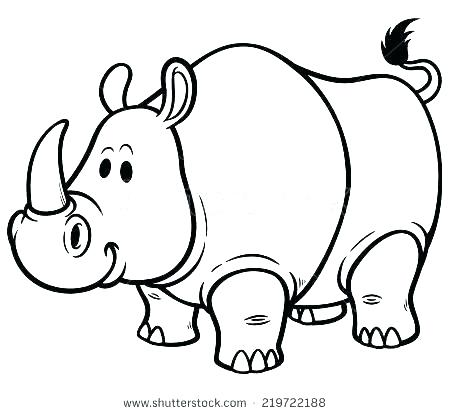 450x414 Rhino Coloring Pages Rhinoceros Coloring Pages Rhino Coloring Page