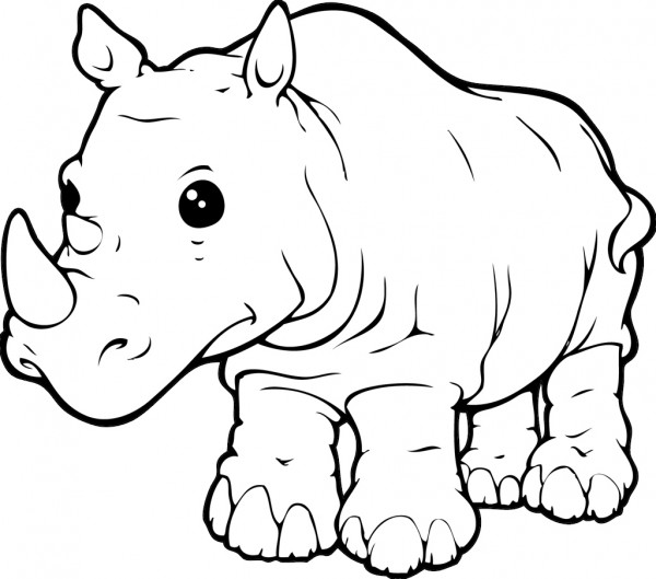 600x529 Rhinoceros Coloring Pages