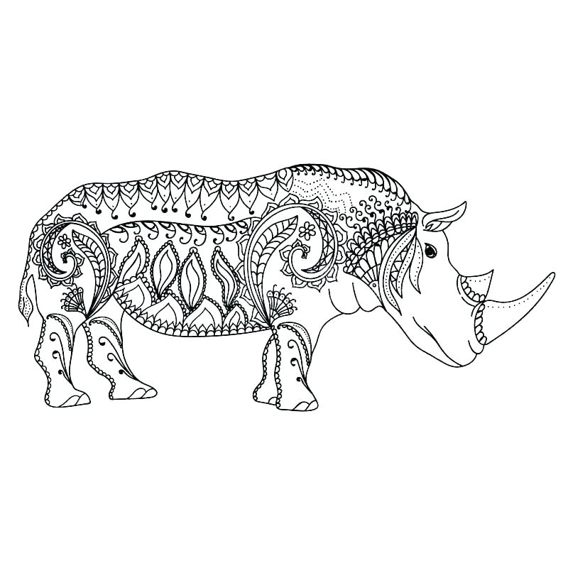 800x800 Woolly Mammoth Colouring Pages Rhino Coloring Page Baby Images
