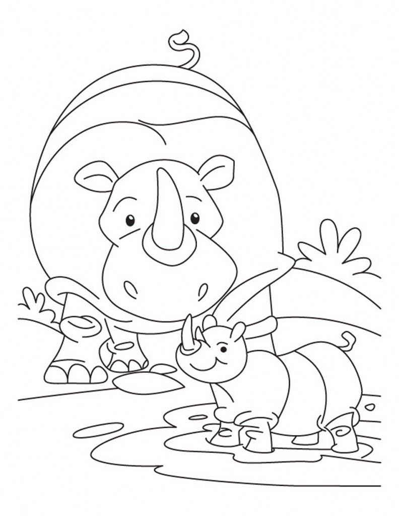 792x1024 Free Printable Rhinoceros Coloring Pages For Kids Rhinoceros