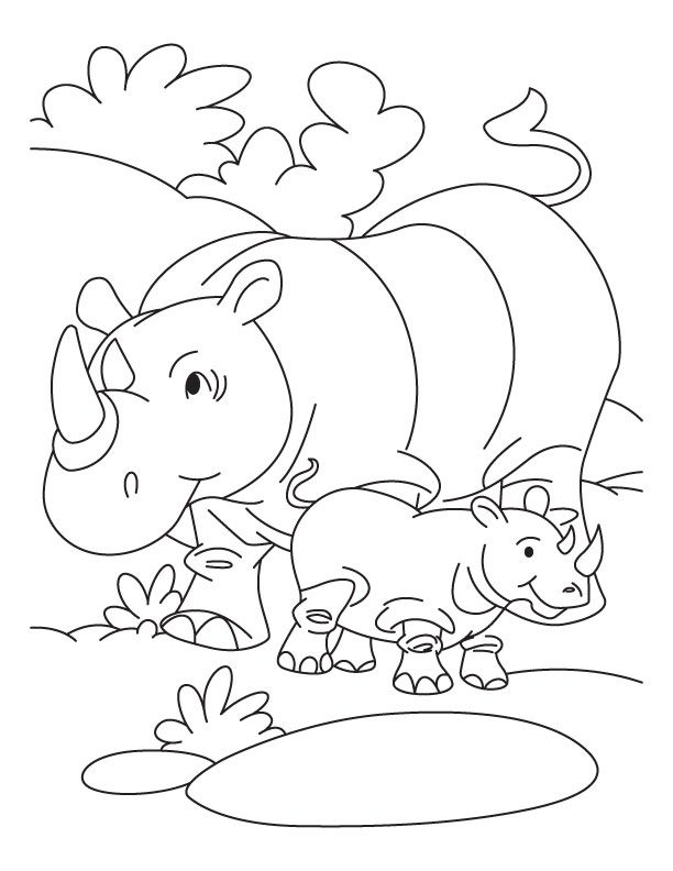 612x792 Free Printable Rhinoceros Coloring Pages For Kids Coloring Pages