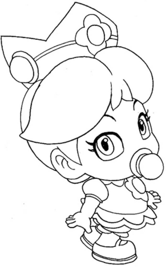 694x1116 Baby Rosalina Coloring Pages Download Ba Princess Peach Mario