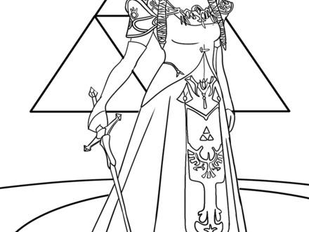 440x330 Zelda Coloring Page, Princess Zelda Coloring Pages Baby