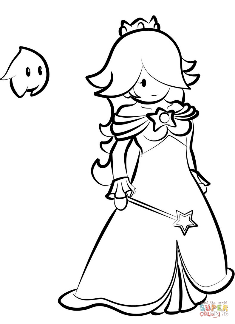788x1088 Rosalina Coloring Pages Free Coloring For Kids