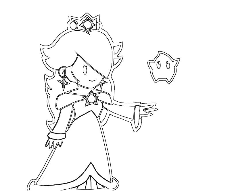 The Best Free Rosalina Coloring Page Images Download From 162 Free Coloring Pages Of Rosalina At Getdrawings
