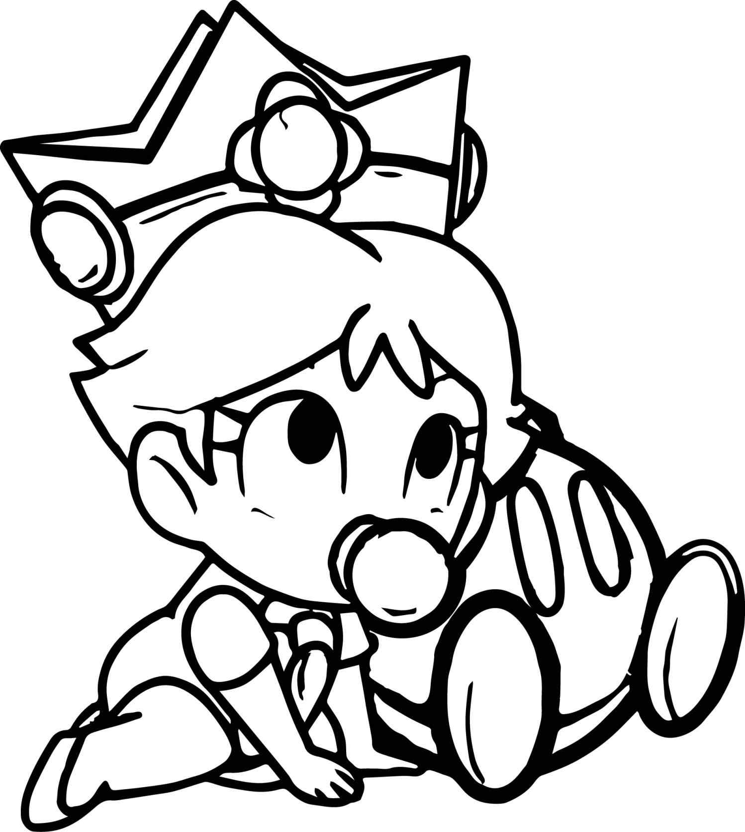 1498x1673 Baby Rosalina Coloring Page Online Coloring Printable