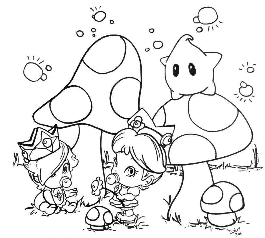 900x807 Baby Rosalina Coloring Pages Daisy And Rosalina Jadedragonne