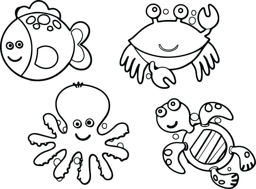 878x651 Jungle Animals Coloring Page Coloring Pages Sea Animals Cartoon
