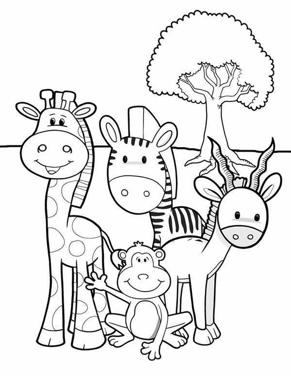 600x776 Jungle Animals Coloring Pages Beautiful The Lion King Throughout