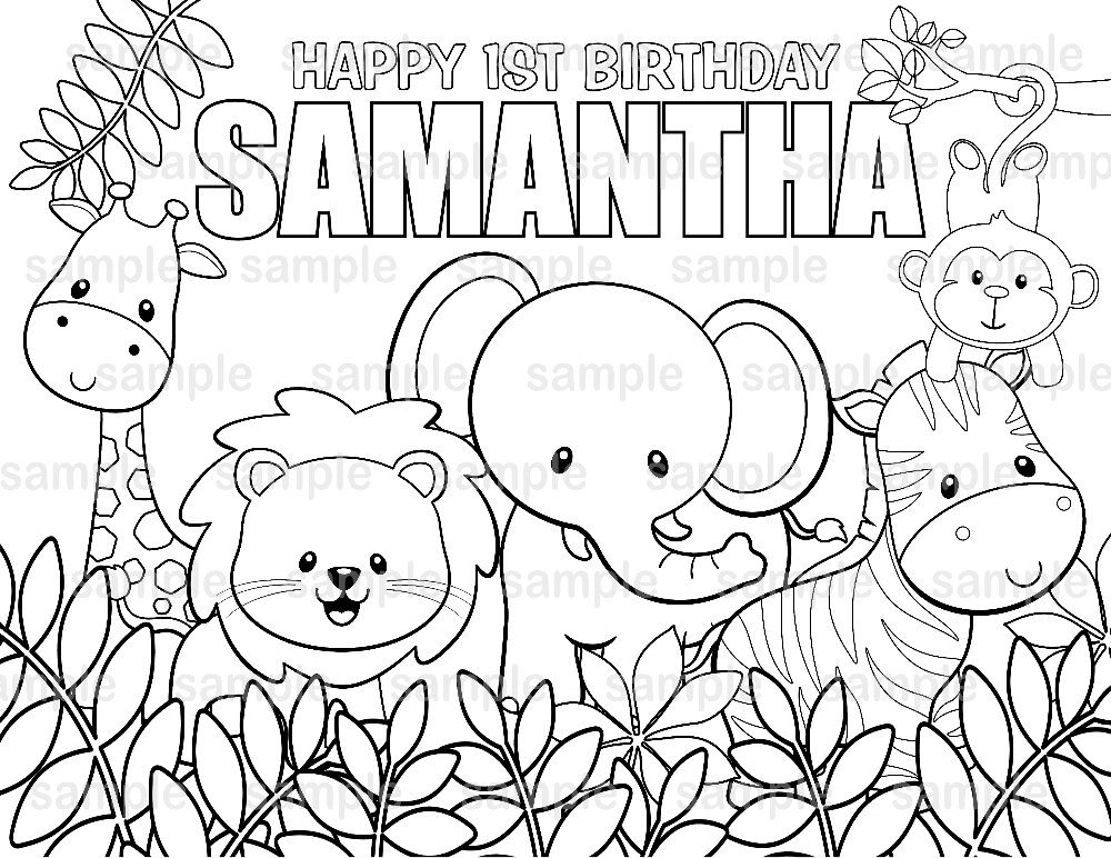 1000x772 Personalized Printable Jungle Safari Birthday Party Favor