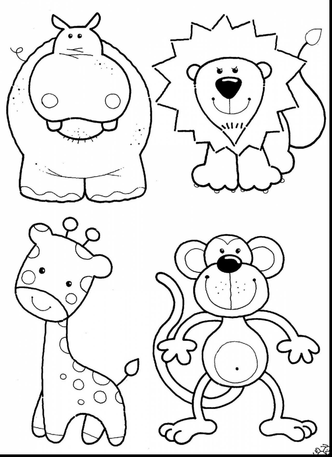 1280x1760 Safari Animals Coloring Pages Newyork