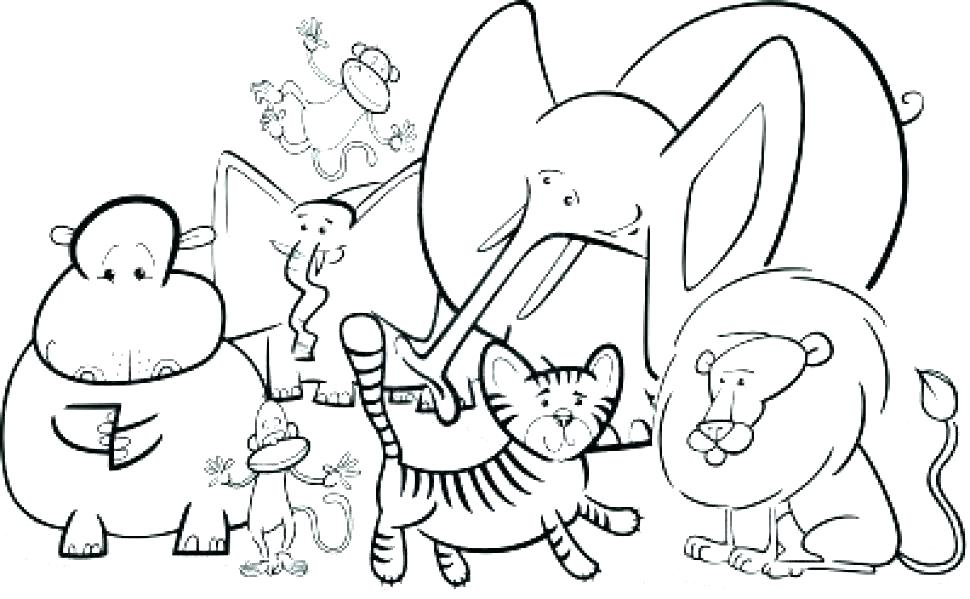 Baby Safari Animals Coloring Pages At Getdrawings Com Free For