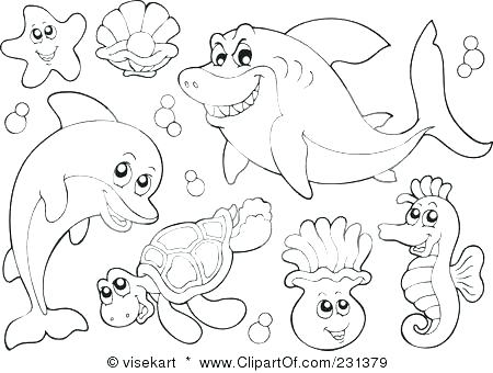 450x340 Sea Animals Coloring Pages Underwater Animals Coloring Pages