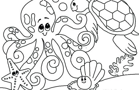 469x304 Sea Animals Coloring Sheets Just Colorings Sea Animals Coloring