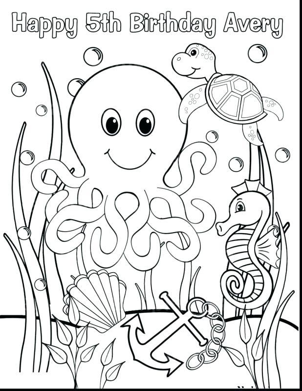 618x800 Underwater Scene Coloring Pages Realistic And Stunning Page
