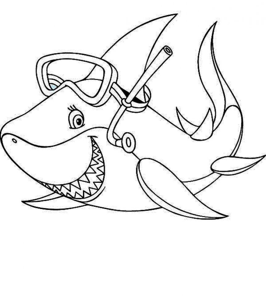 863x960 Get This Baby Shark Coloring Pages !