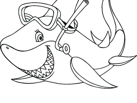 440x330 Shark Coloring Book As Cool Coloring Shark Best Great White Shark