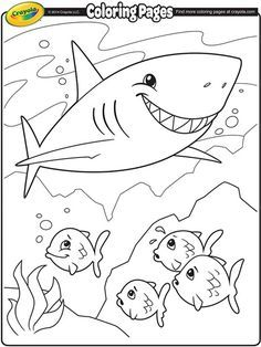 236x314 Shark Attack Coloring Pages