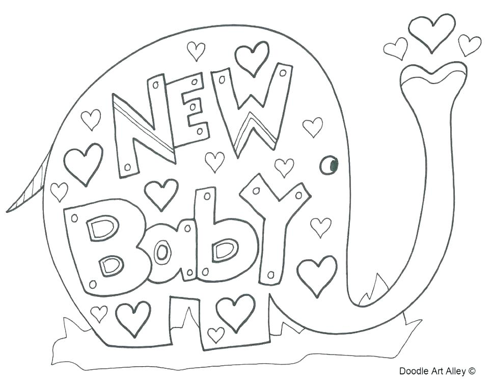 Baby Shower Coloring Pages At Getdrawings Free Download