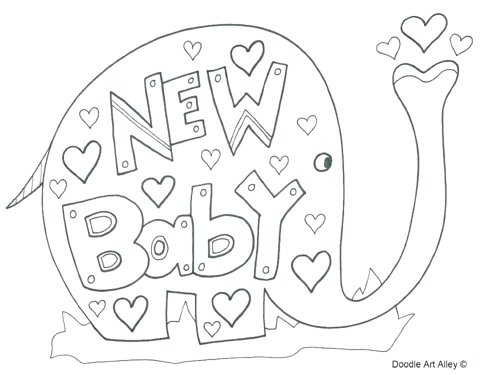 Baby shower celebration coloring page | Free Printable Coloring Pages | 750x970