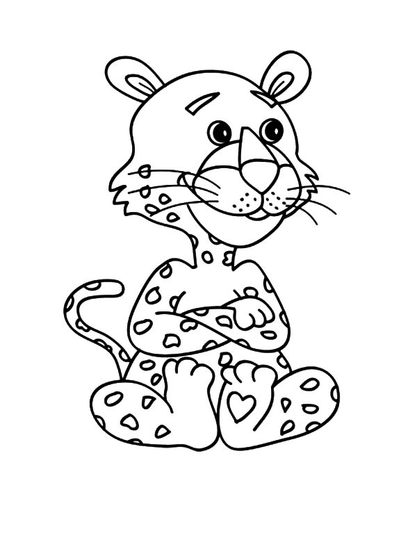 600x777 Baby Snow Leopard Coloring Pages
