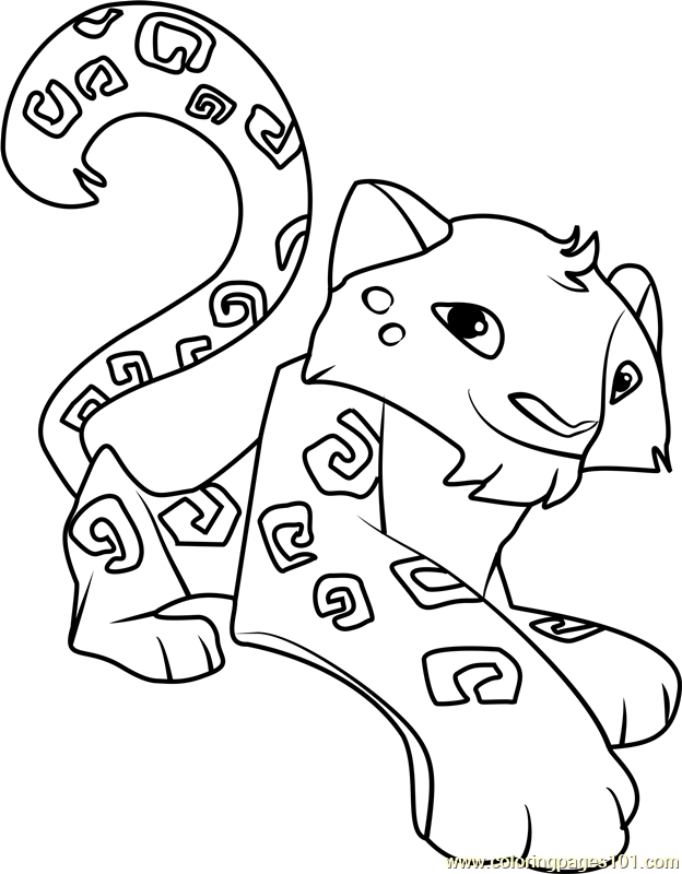 624x800 Animal Jam Coloring Pages Snow Leopard Color Bros