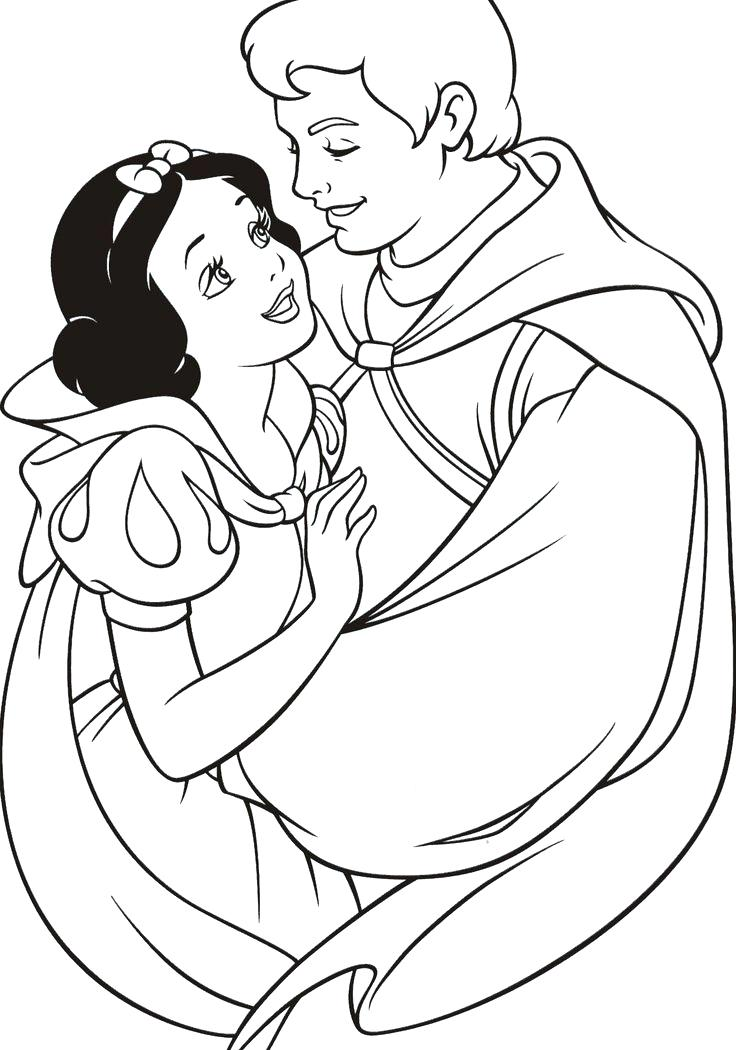 736x1050 Snow White Coloring Pages For Kids Printable Free Of Cartoons