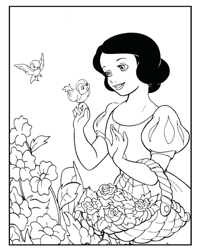 762x960 Snow White Coloring Pages Snow White And The Seven Dwarfs Color