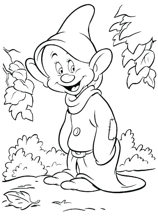 526x720 Dwarfs Coloring Pages Coloring Pages For Boys Kids Under Snow