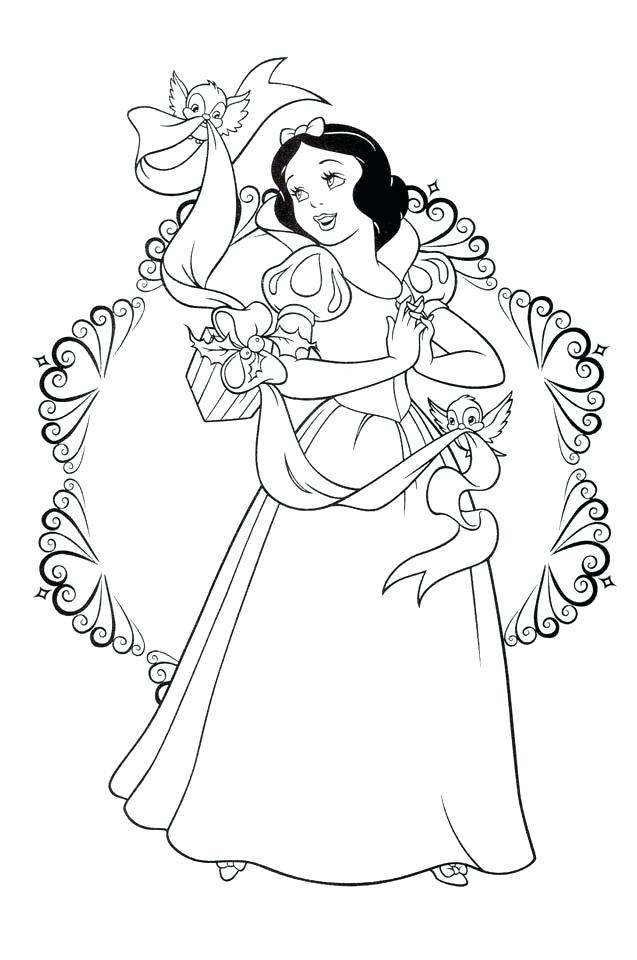 637x960 Snow White Coloring Snow White Colouring Book