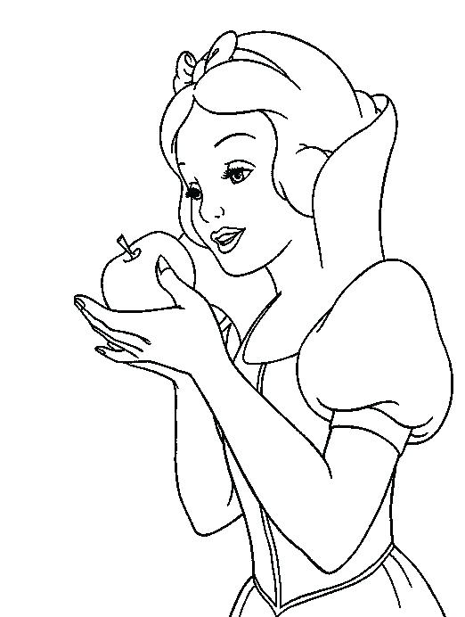 522x692 Snow White Coloring Grandmaman Site