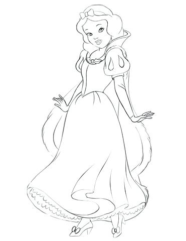 371x480 Baby Snow White Coloring Pages Snow White Coloring Page Free