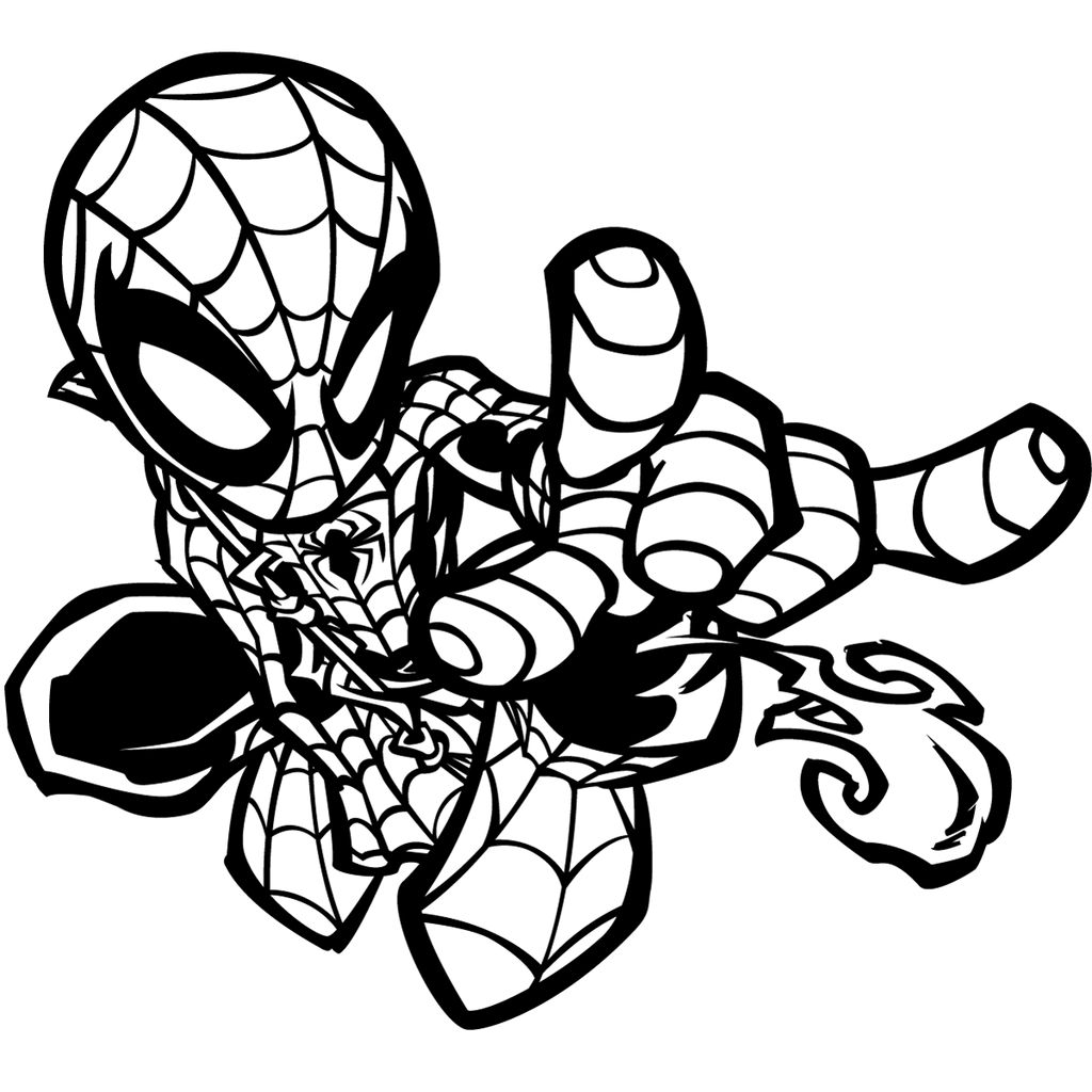 Baby Spiderman Coloring Pages