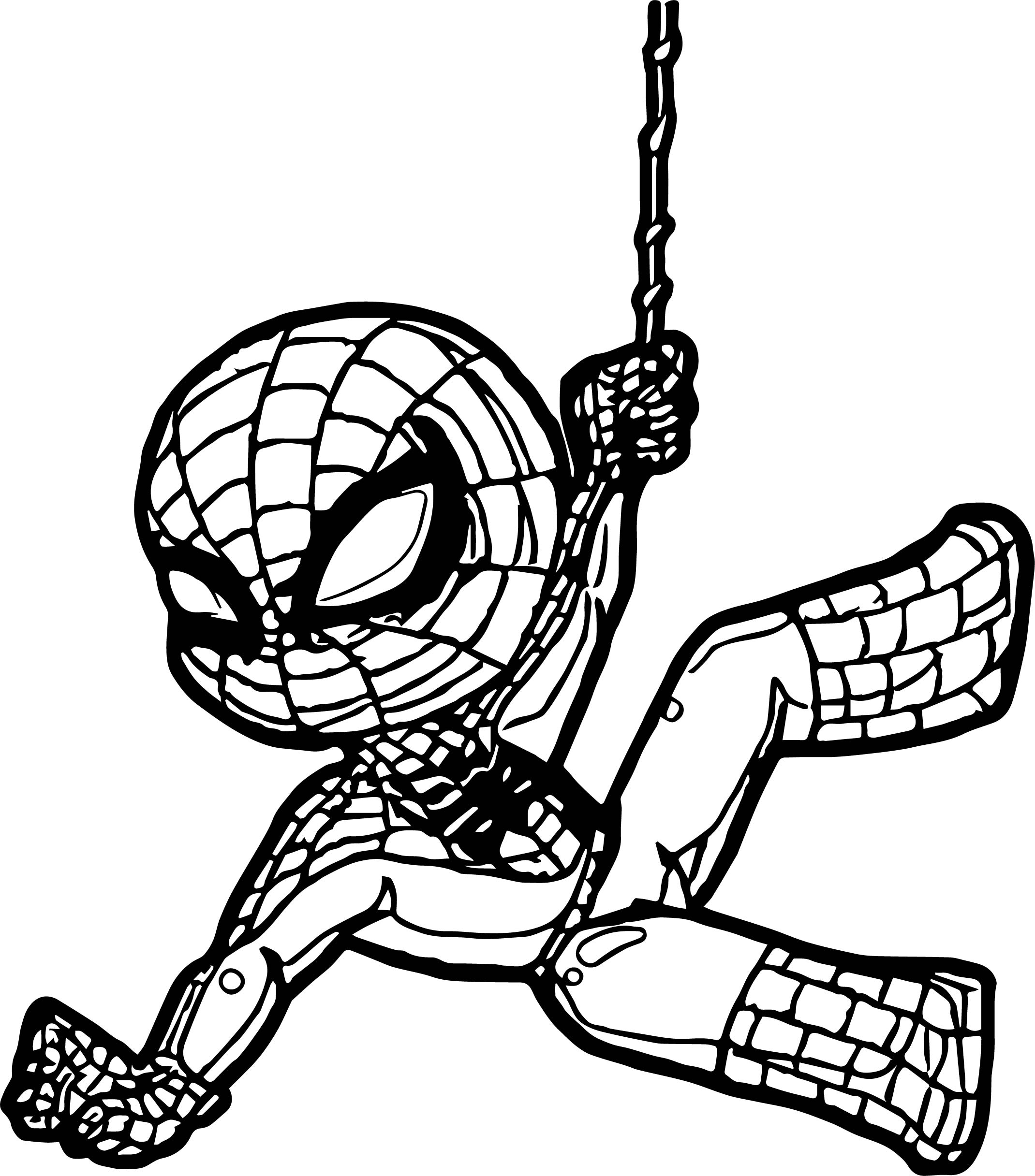 Baby Spiderman Coloring Pages at GetDrawings | Free download
