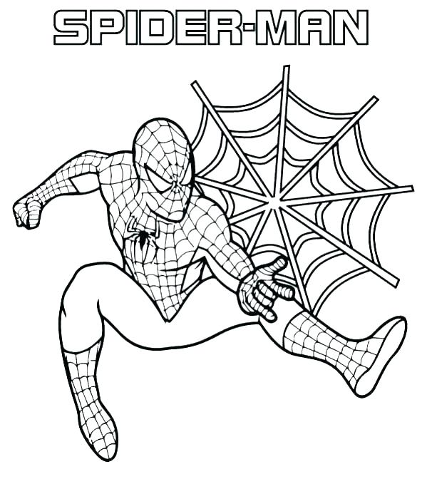 599x679 Spider Man Coloring Pages Spider Man Color Page Comics Spider