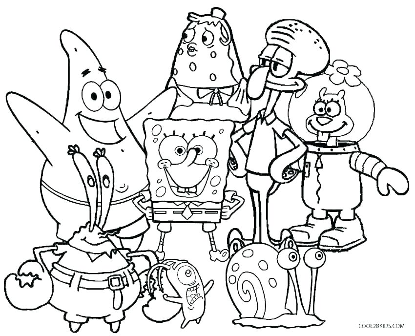 850x688 Pants Coloring Pages Baby Spongebob Squarepants Coloring Pages