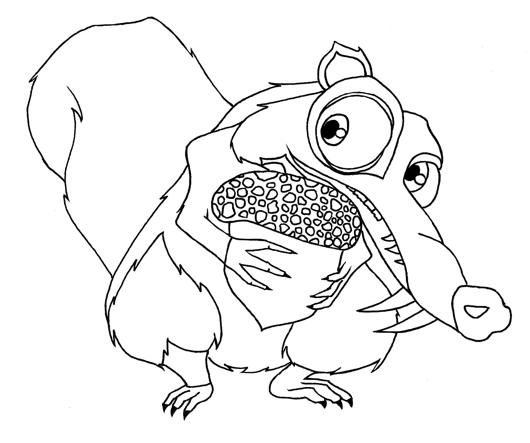 1855x1552 Sid And Baby Coloring Pages For Kids Unique Free Colour Page Scrat